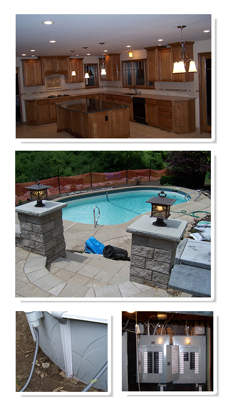 Residential Kitchen Lighting And Pool Electric Projects